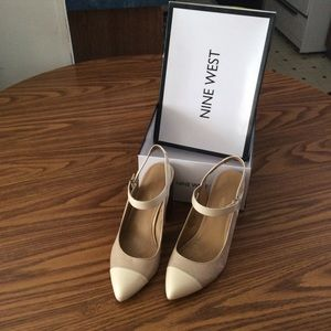 Nine West women's chunky heel shoes +